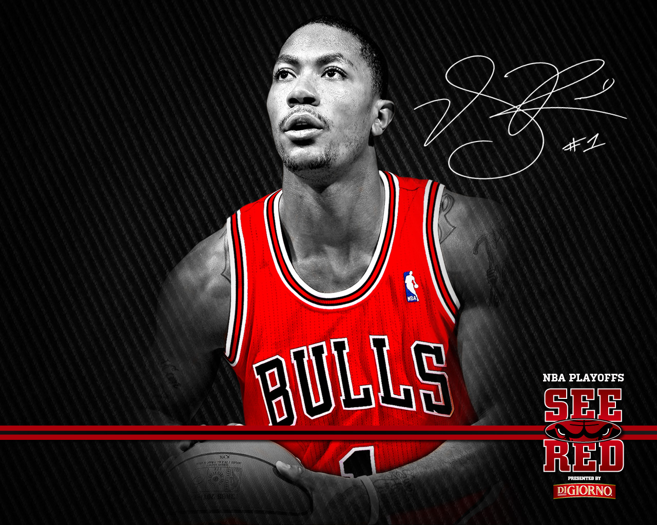 2012 Playoffs See Red Wallpaper Chicago Bulls 1280x1024