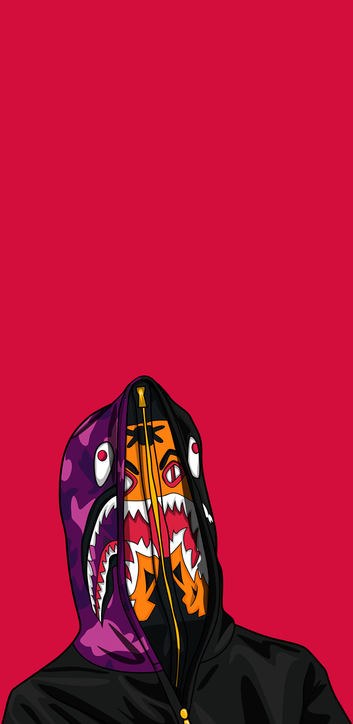 Bape Shark Wallpaper 709x1453