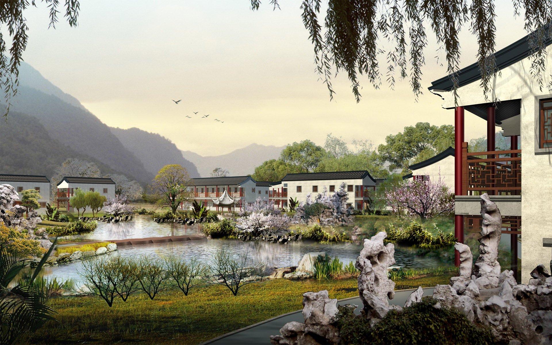 1024x640 chinese village wallpaper 1152x720 chinese village wallpaper 1920x1200