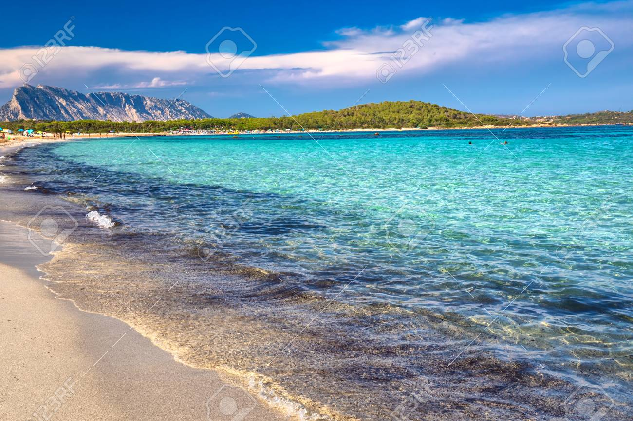 Lu Impostu Beach With Isola Travolara In The Background Sardinia 1300x866