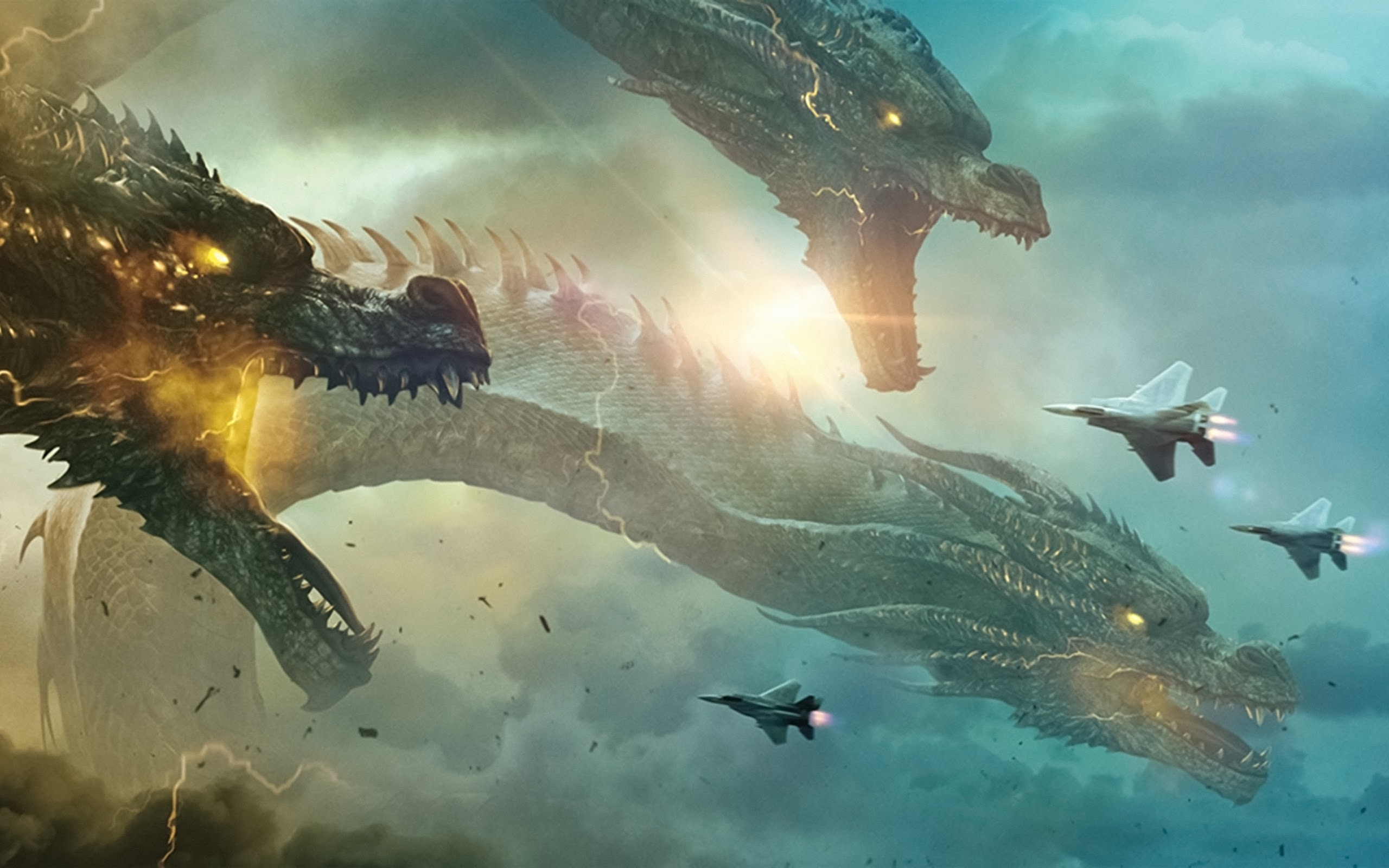 King Ghidorah Godzilla King of the Monsters 4K Wallpaper 19 2560x1600