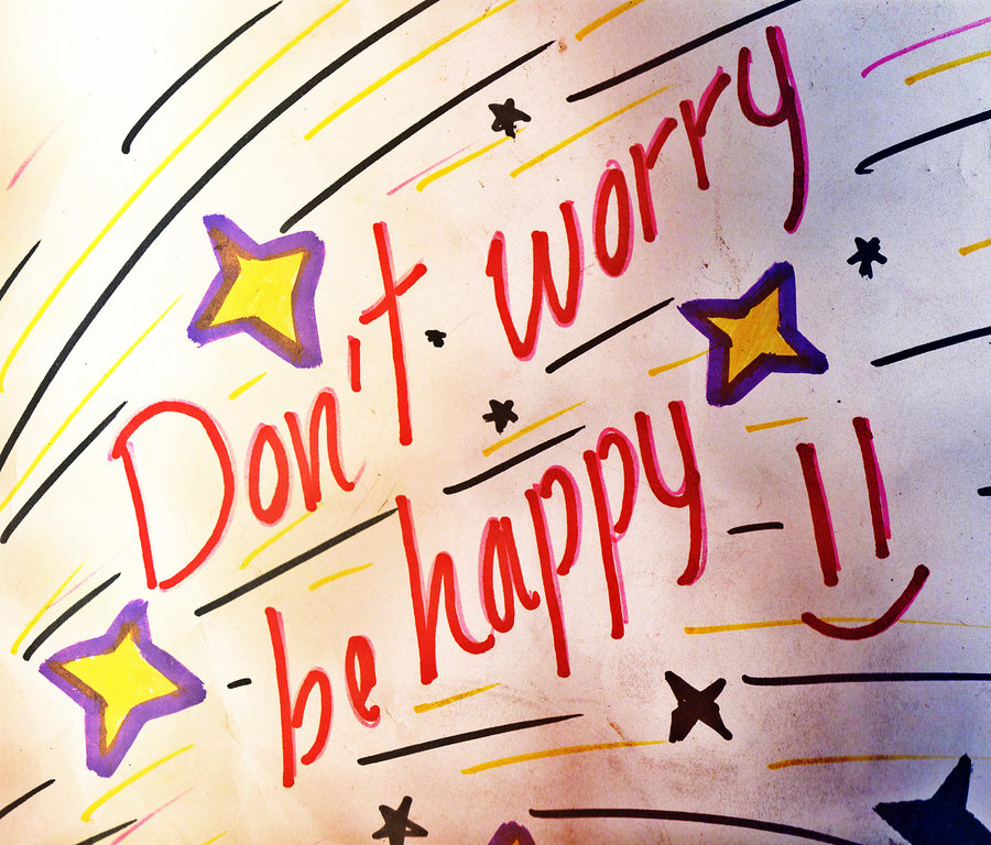 dont worry be happy by F10R3LL4 900x768