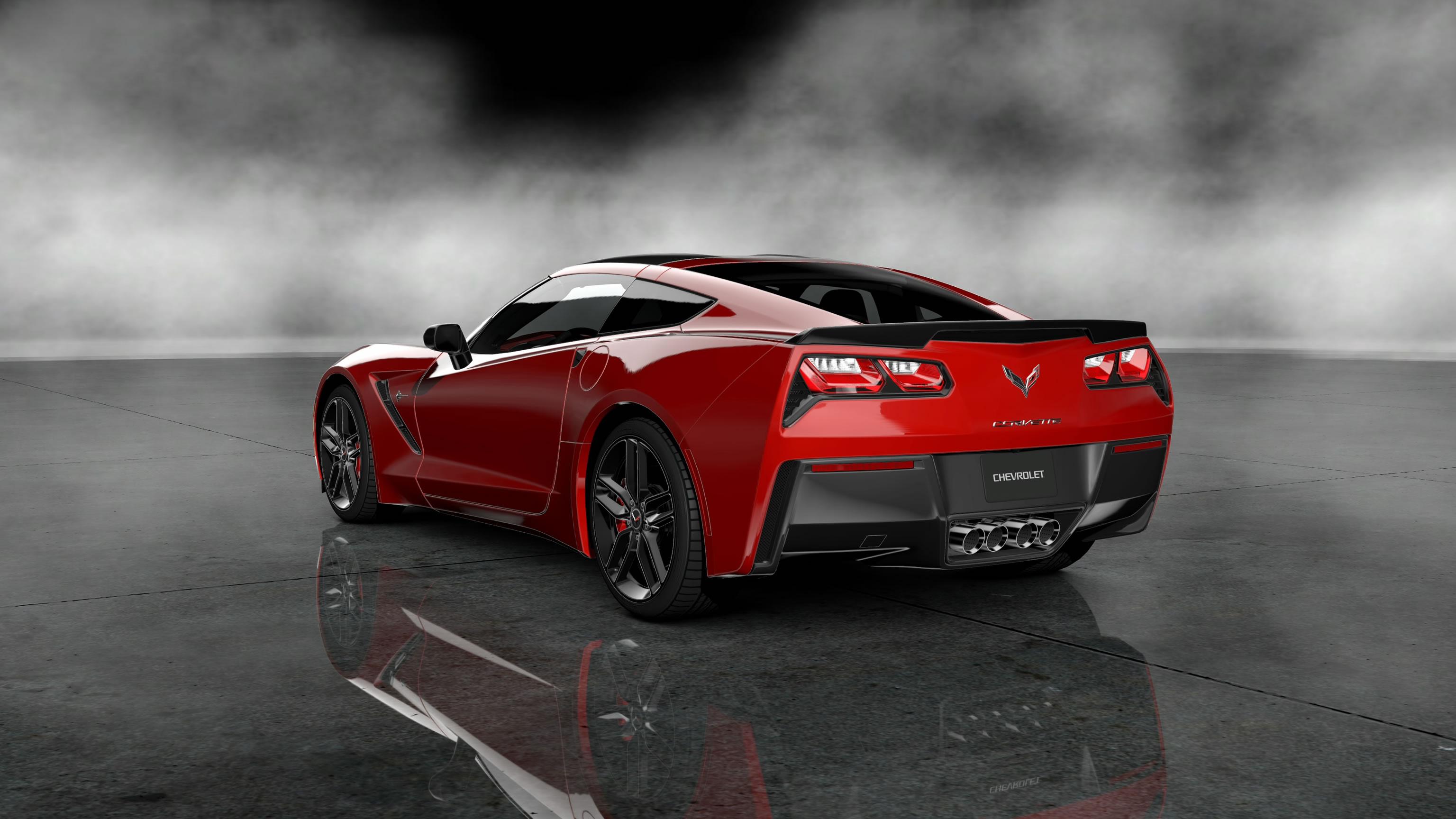 Download Red Corvette Car Year 2014 HD Wallpaper Car Wallpapers 3072x1728