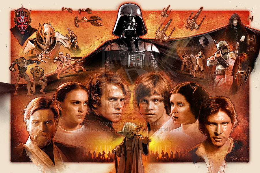 50 Star Wars Saga Wallpaper On Wallpapersafari