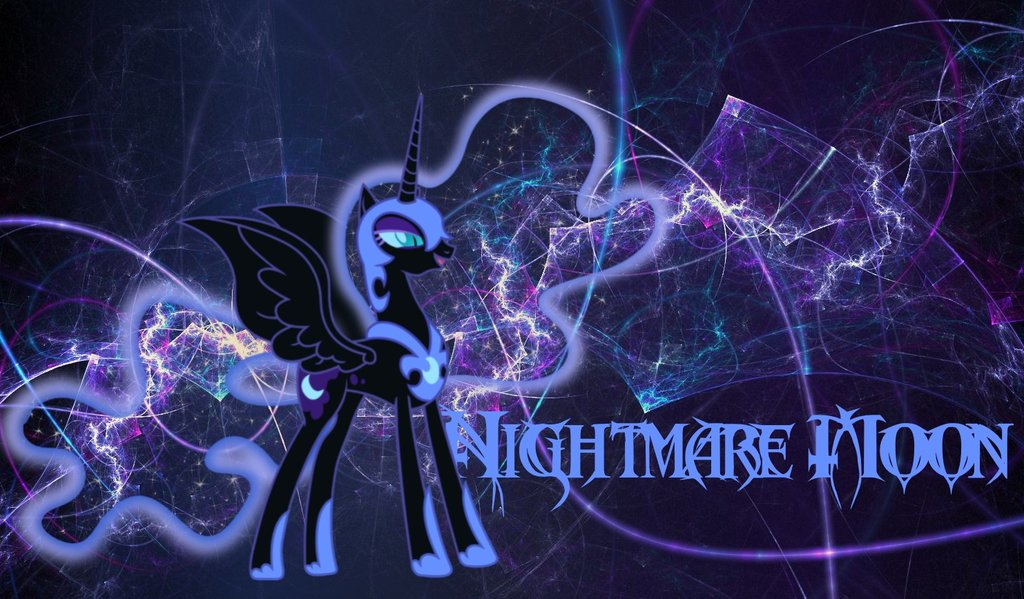 Nightmare Moon Wallpaper by StormLament 1024x599