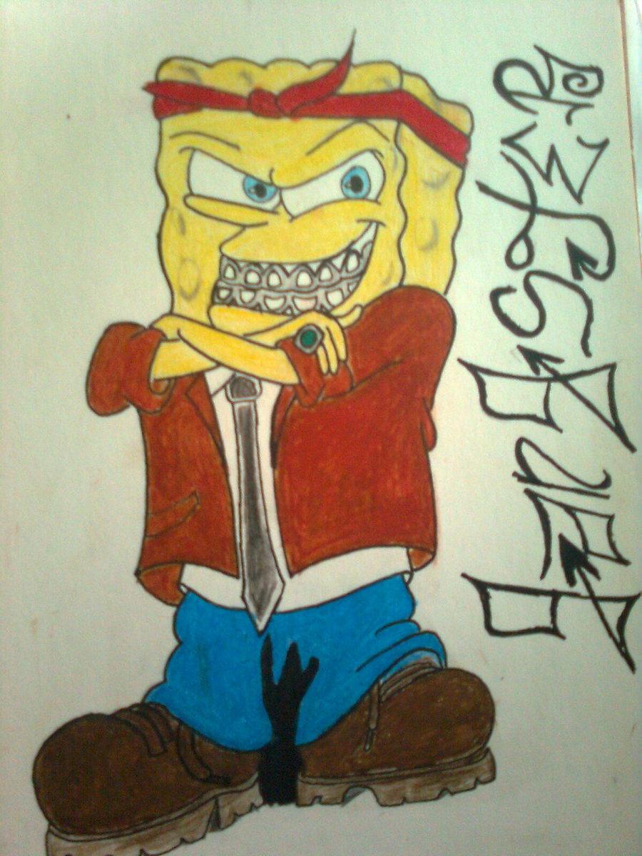 Gangster SpongeBob Wallpapers - WallpaperSafari  Gangster Sponge...