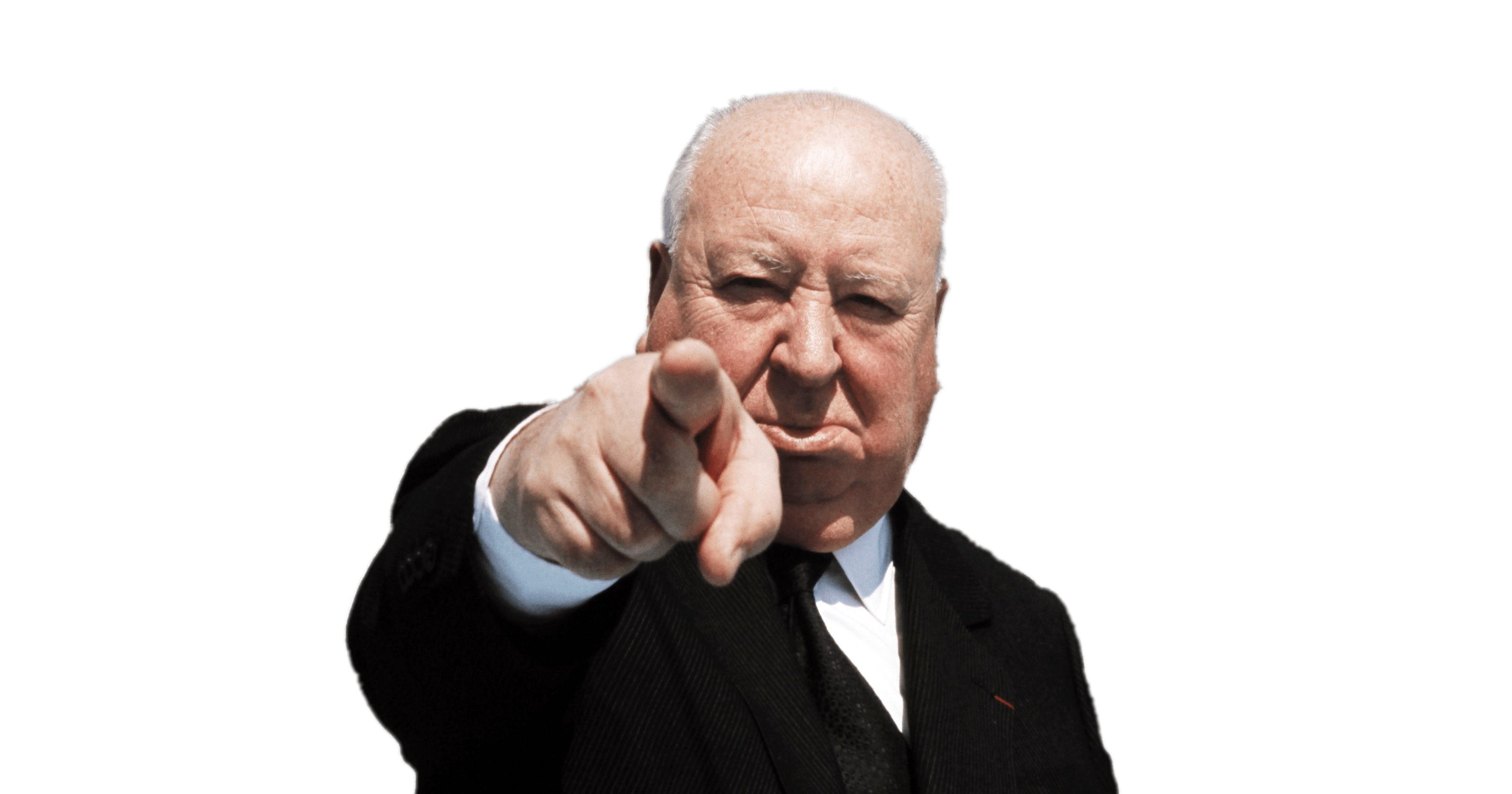 Alfred Hitchcock Pointing transparent PNG   StickPNG 3200x1680