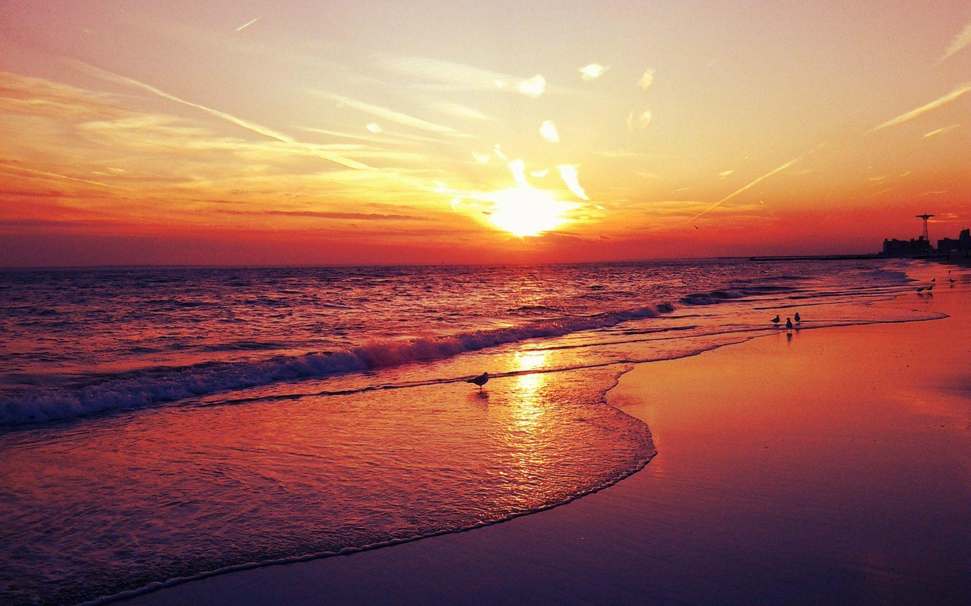 Sunset Beaches Wallpapers 1920x1200