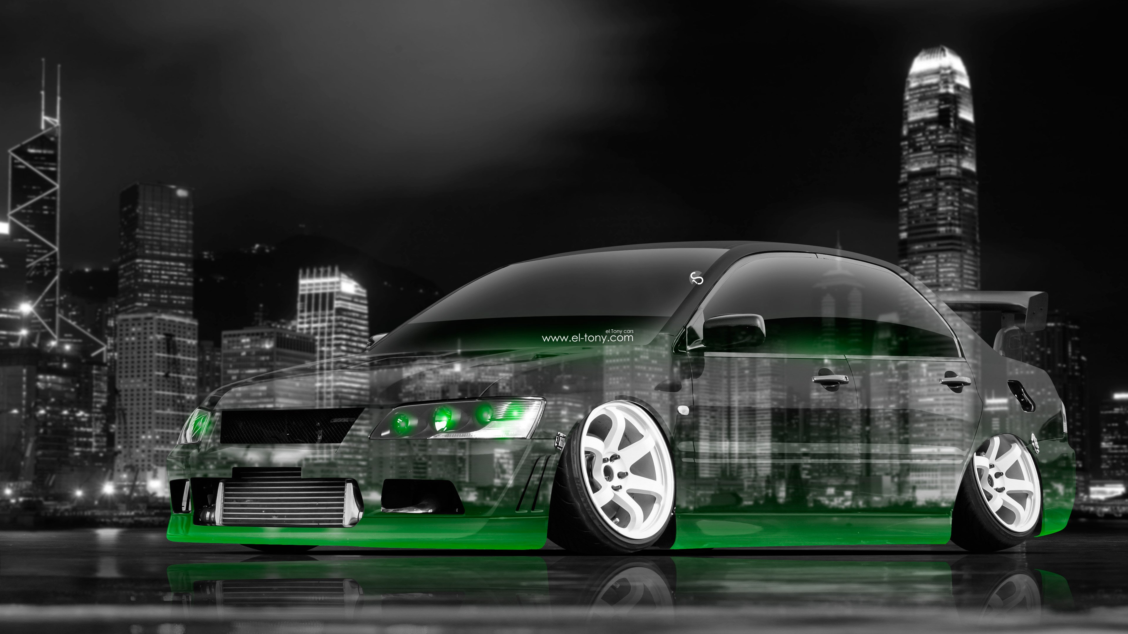 3840x2160 4k Mitsubishi Lancer Evolution Jdm Tuning Crystal City Car 2015  4k .