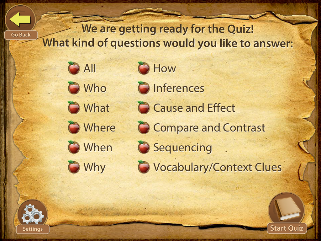 You can choose what kind of questions you want them to answer This is 1024x768