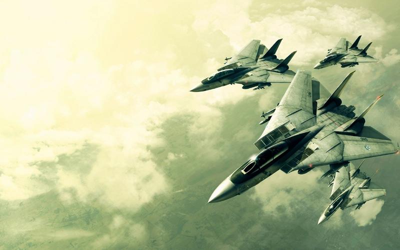Ace Combat video games ace combat planes f14 tomcat 1280x800 wallpaper 800x500
