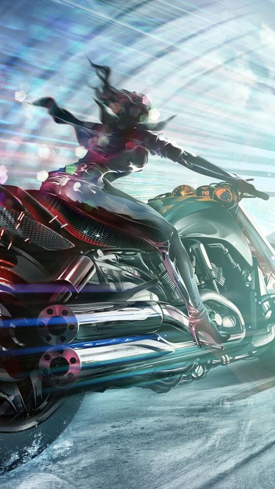 Motorcycle Girl Wallpaper   iPhone Wallpapers 540x960