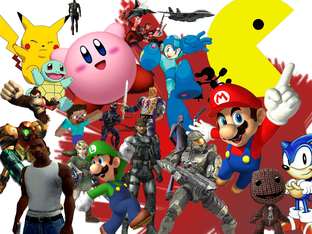 Game characters collage   Video Game Character Wallpaperheart 1280x960