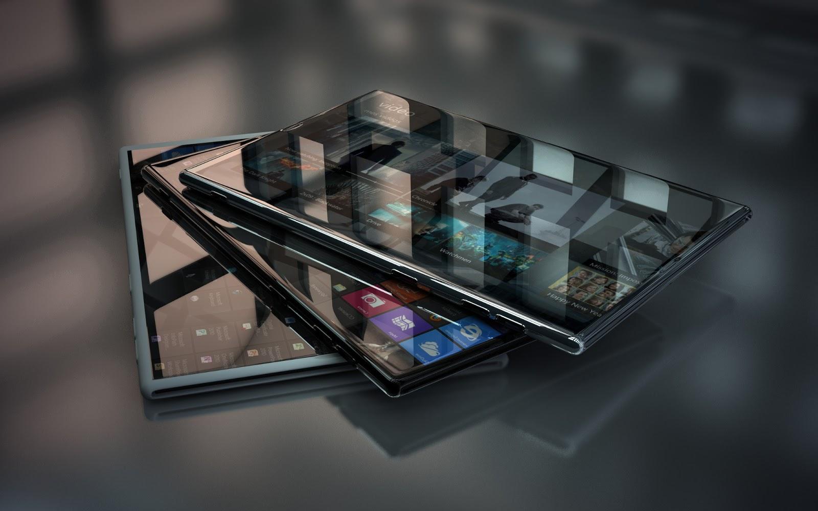 Glass 3D Hi Tech Windows 8 Phone Desktop Wallpapers and Backgrounds 1600x1000