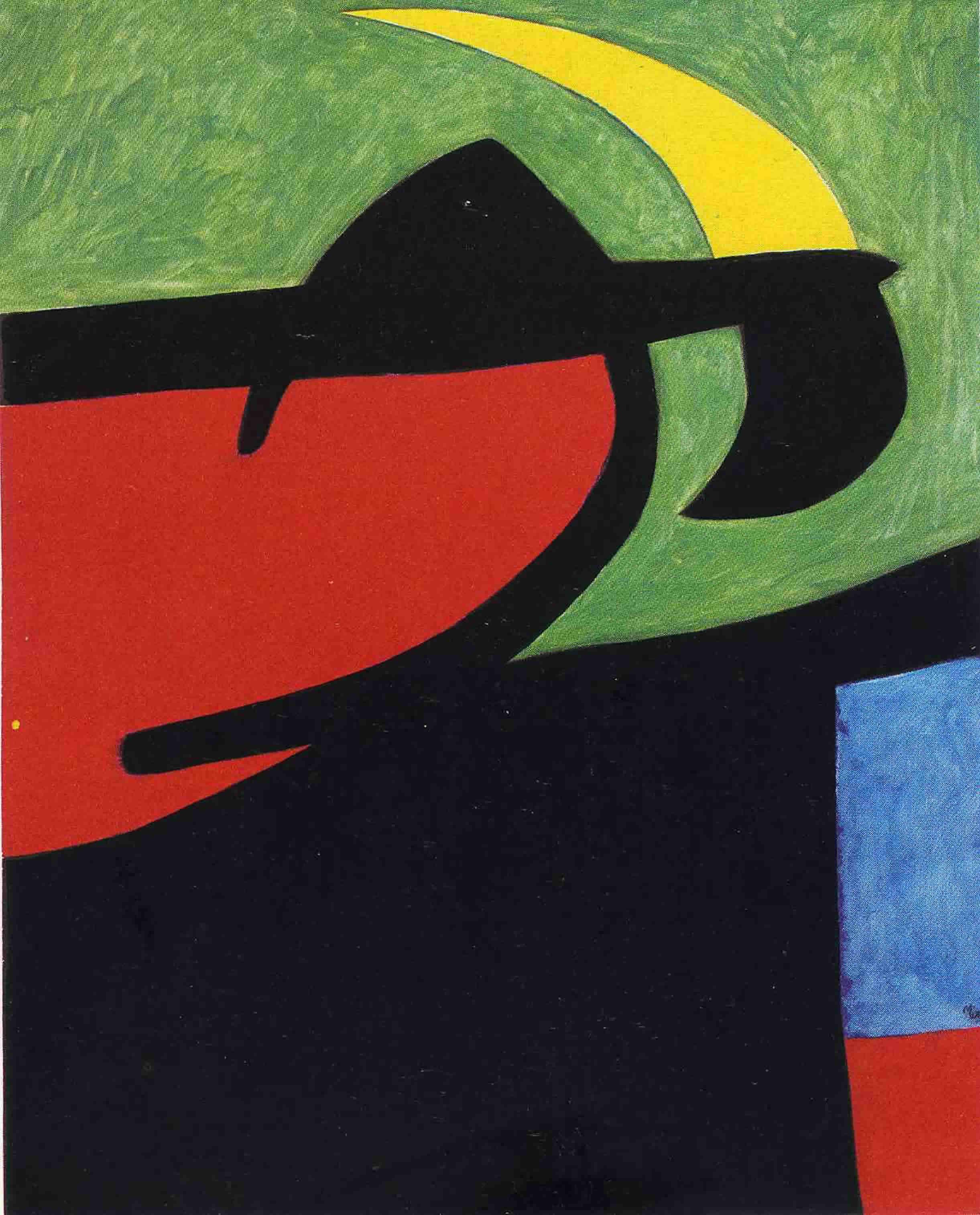 Catalan Peasant In Moonlight   Joan Miro Wallpaper Image 2442x3028