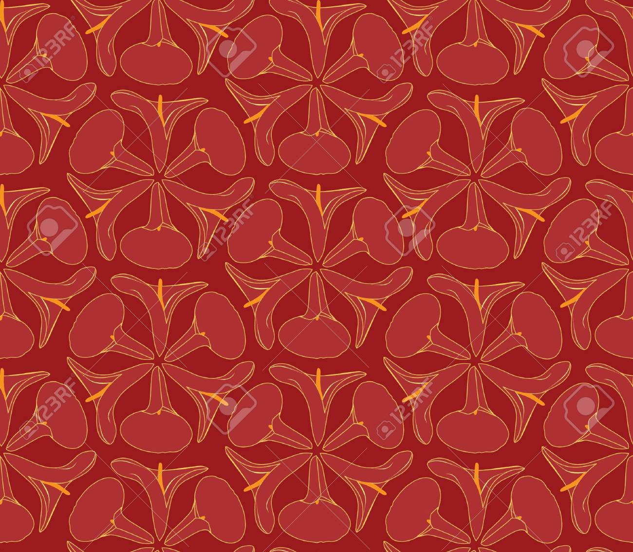 Abstract Decorative Floral Retro Seamless Pattern Flower Cal 1300x1135