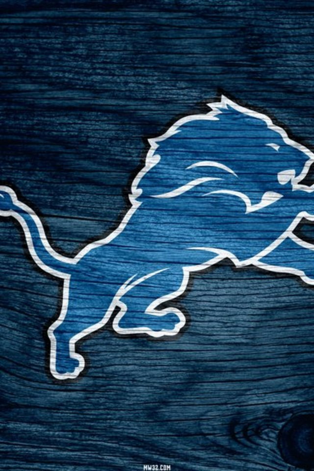Detroit Lions Blue Weathered Wood Wallpaper for iPhone 4 640x960