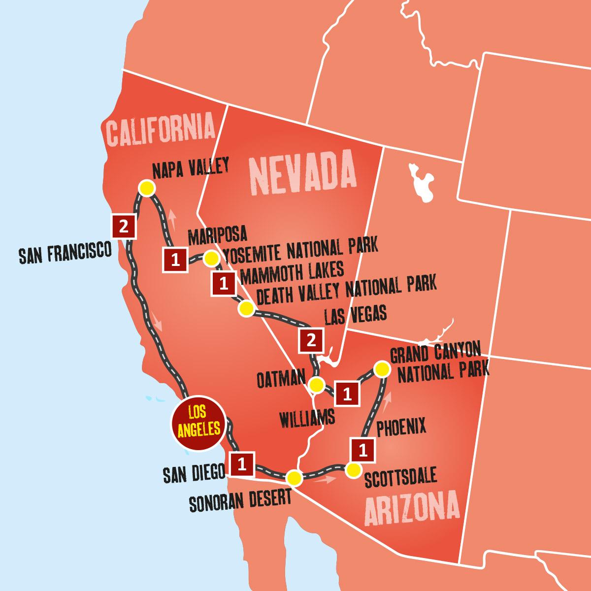 US Holidays West Coast Coach Tours Expat Explore Travel 1200x1200