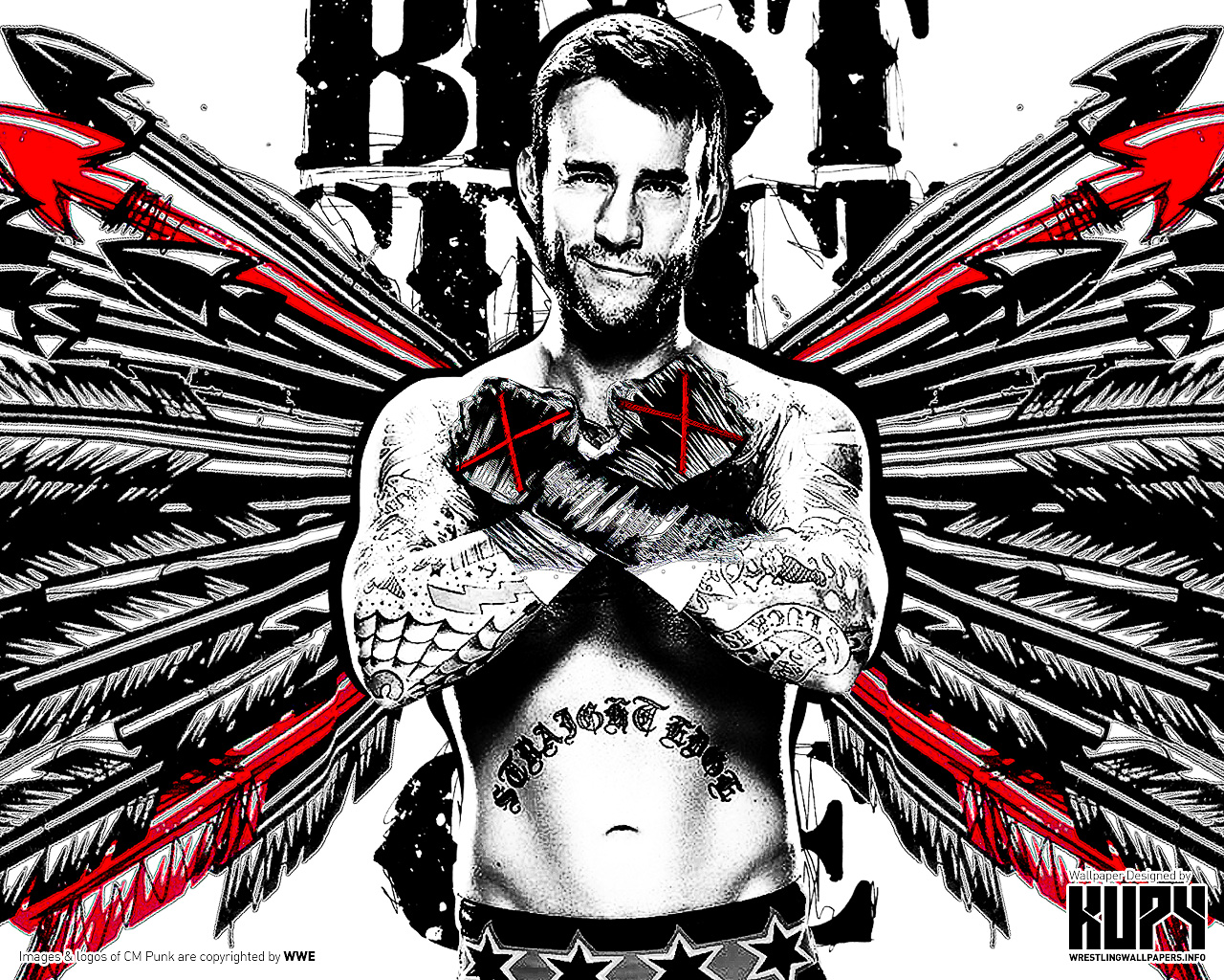 Free Download Cm Punk Best Since Day 1 Wallpaper 1280x1024