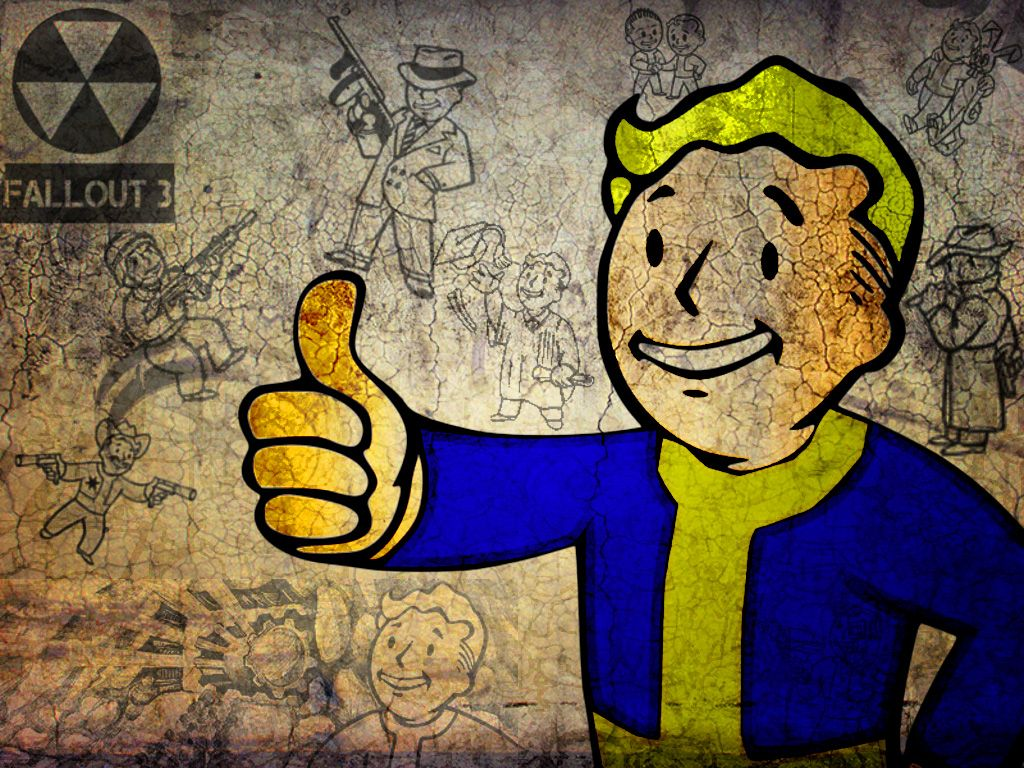 Free Download Fallout 3 Fallout Vault Boy Wallpaper 1024x768 For