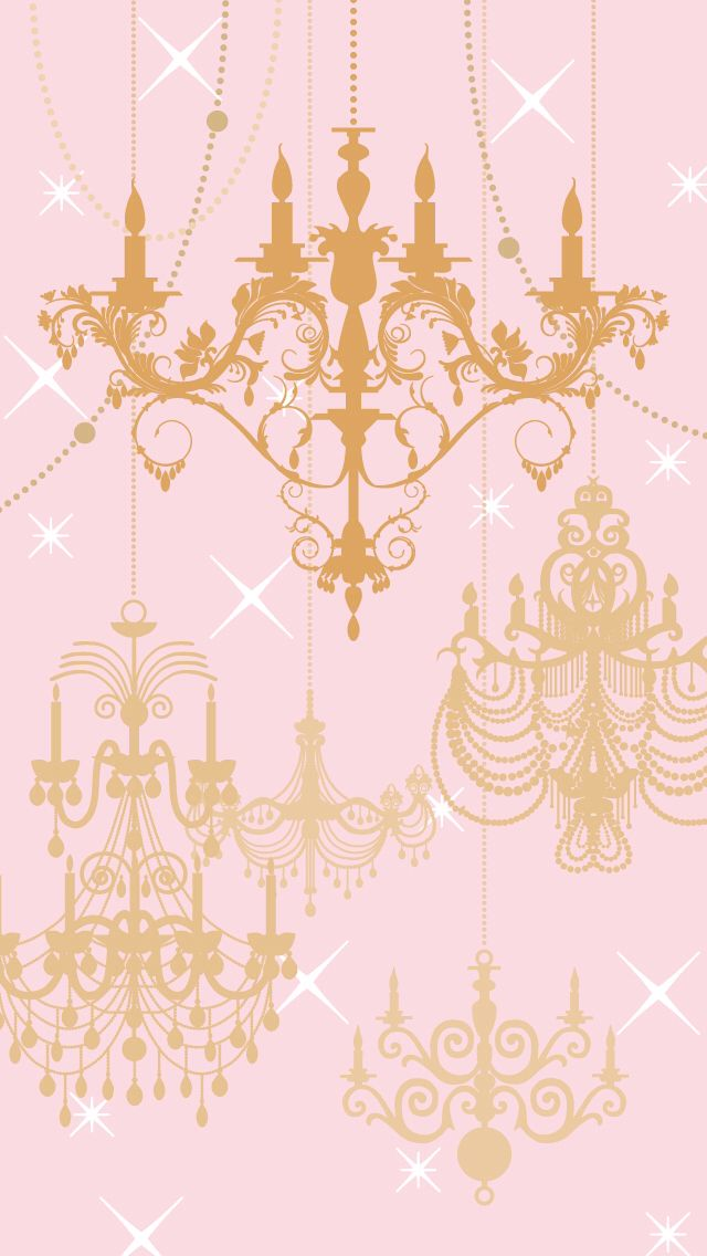 Chandelier Wallpaper French Vintage Wallpaper Pink wallpaper 640x1136