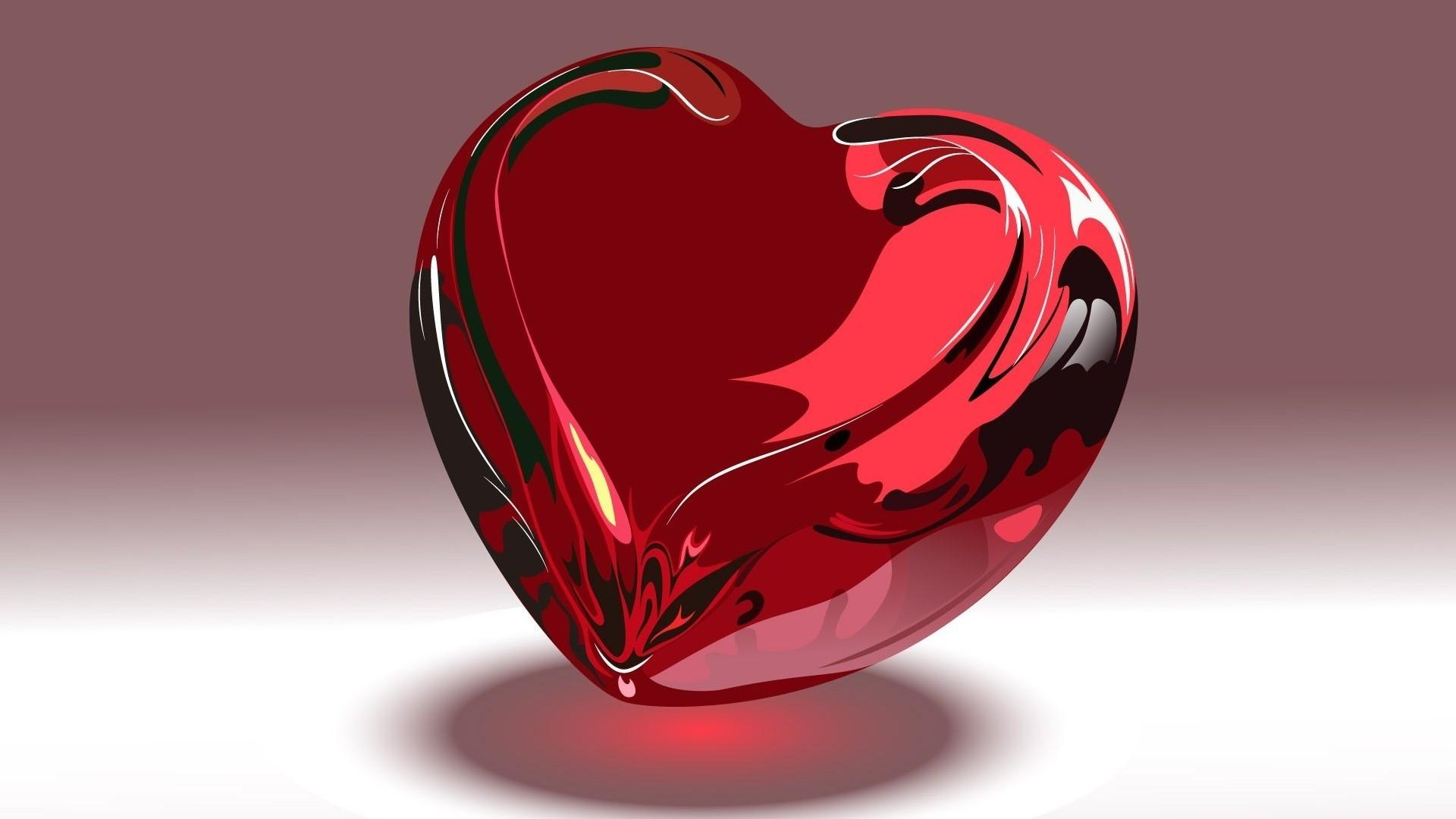Red 3D Heart Wallpaper HD Wallpapers 1920x1080