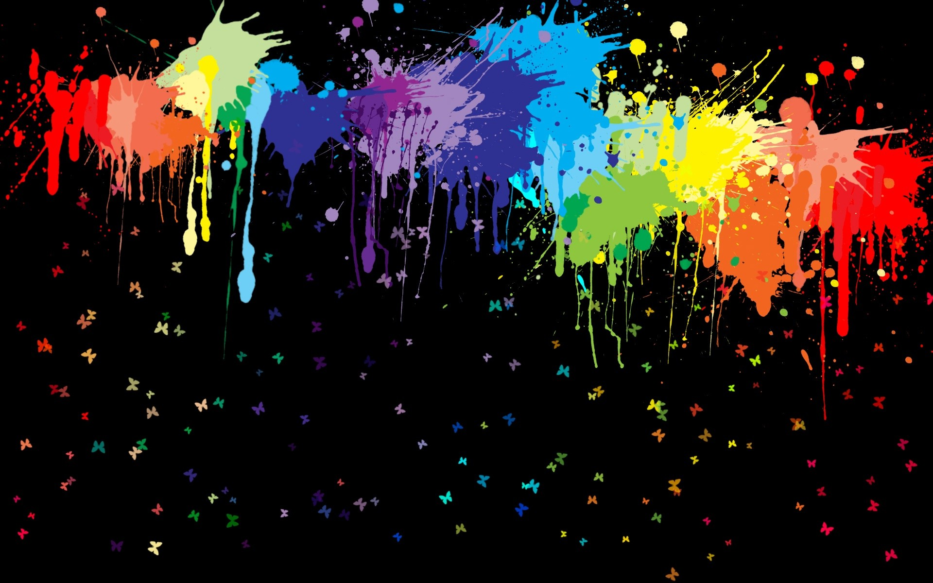 Paint Splashes Vector Background Designs HD Wallpaper 1920x1200