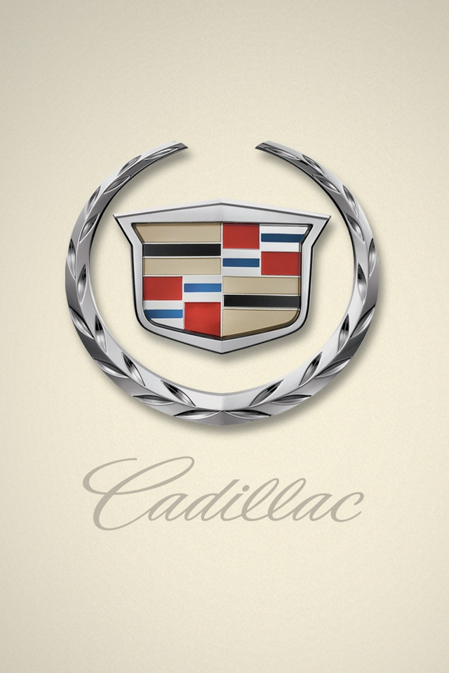 Cadillac logo   Download iPhoneiPod TouchAndroid Wallpapers 640x960