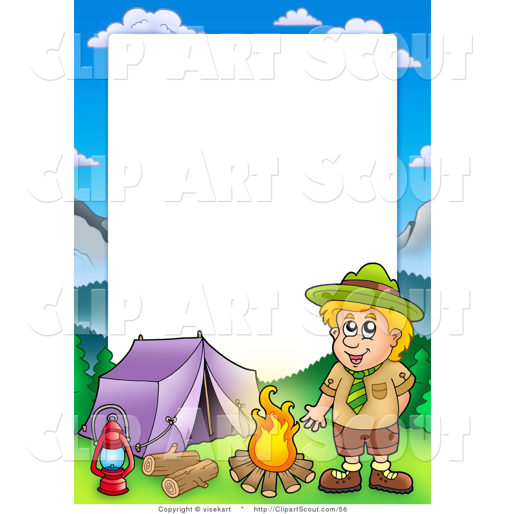 Free Download Clipart Of A Scout Boy Camping In The Wilderness Border Frame Around 1024x1044 For Your Desktop Mobile Tablet Explore 43 Camping Wallpaper Border Wallpaper Borders Cabin Theme