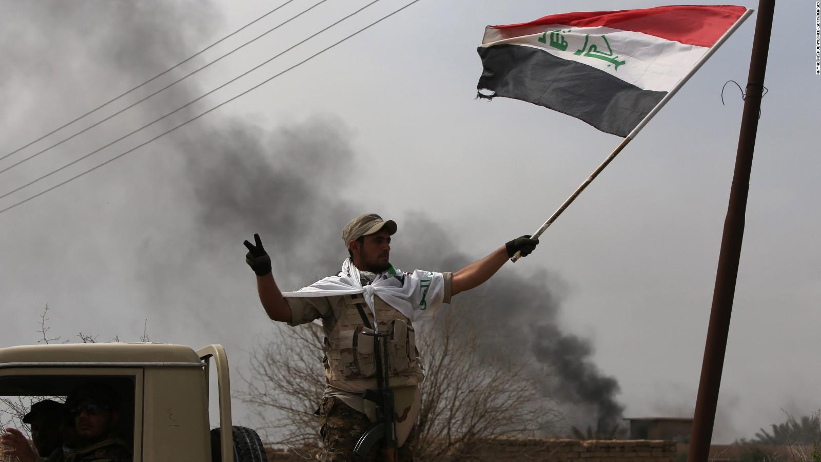 Tikrit Iraq army relies on militia and Iran   CNN 1600x900