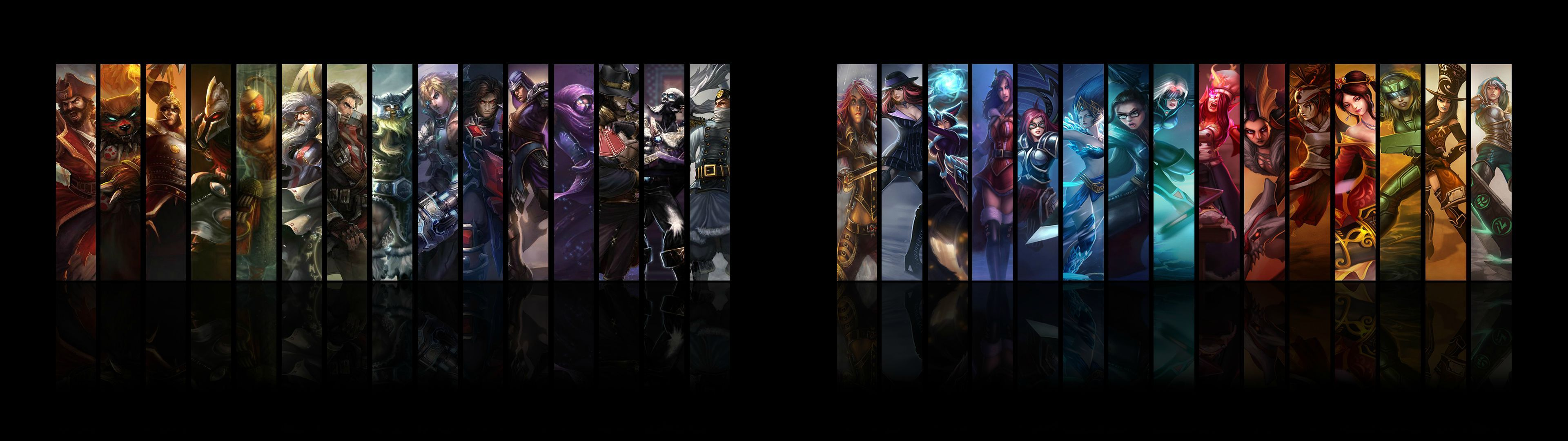 Dual Monitor Wallpaper League Of Legends Download Dual monitor 3840x1080