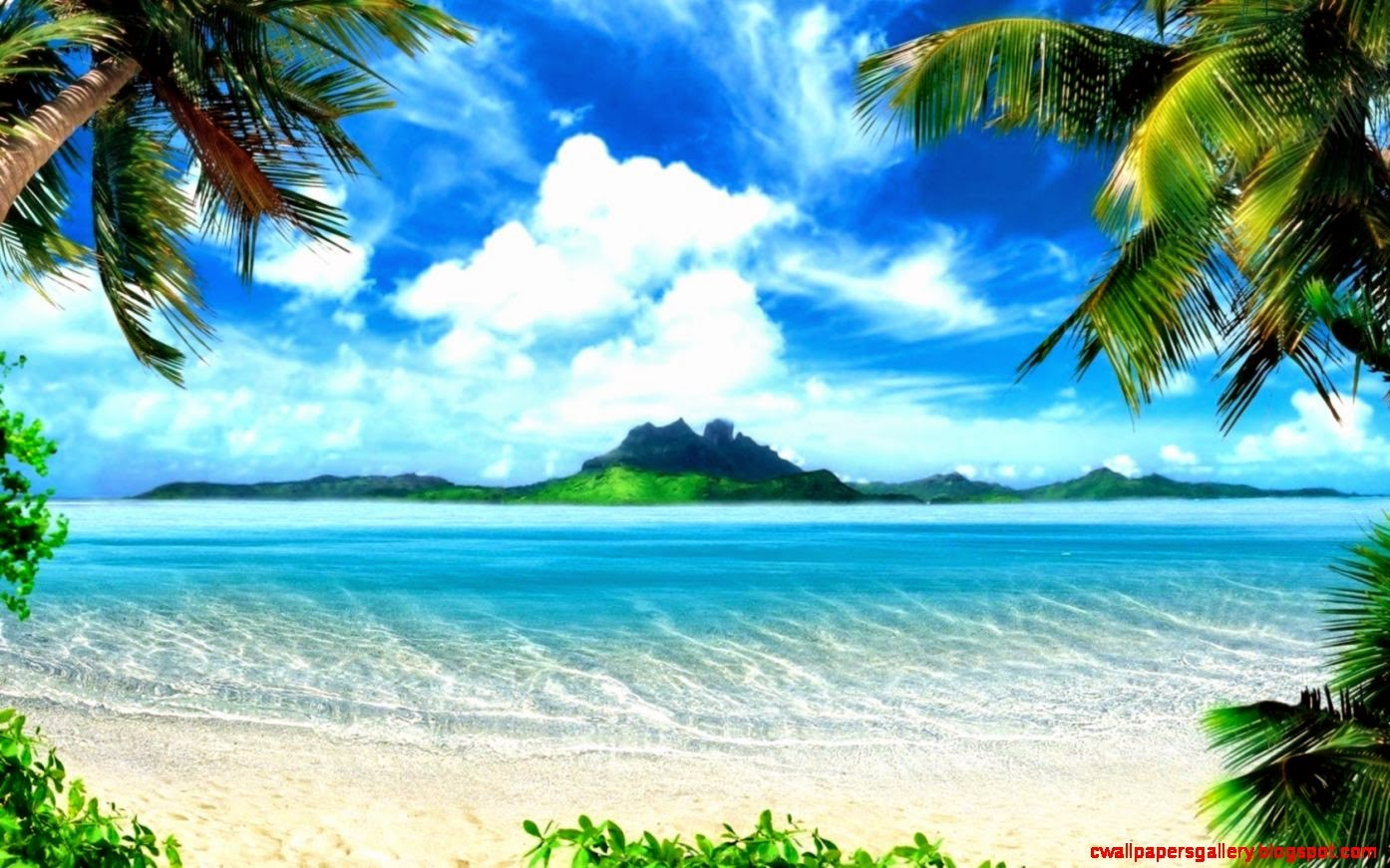 Tropical Island Paradise Wallpaper Wallpapers Gallery 1394x871