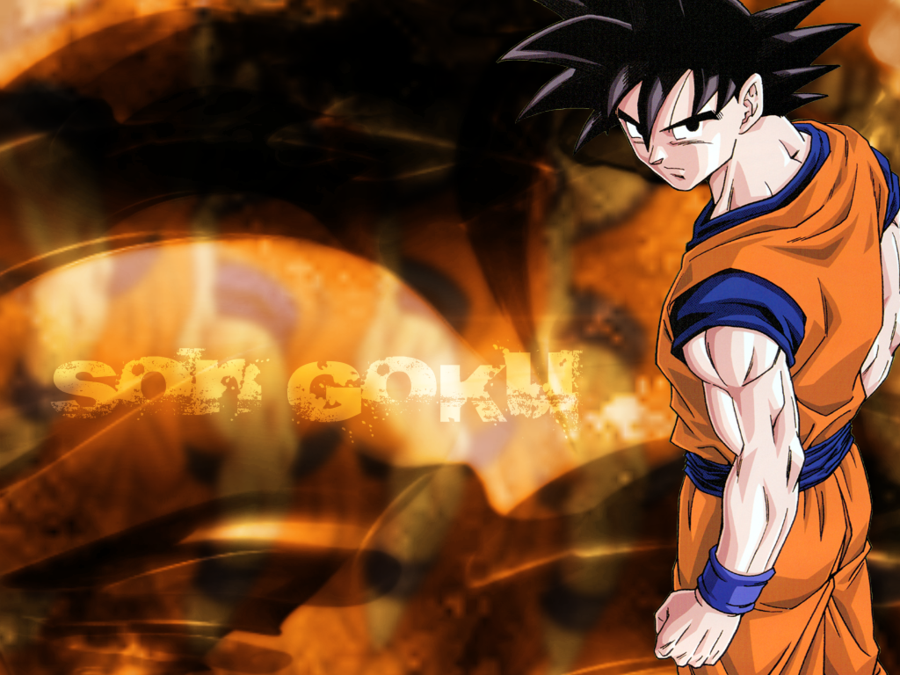 Son Goku Wallpaper 1024 x 768 by MartikalPL 900x675