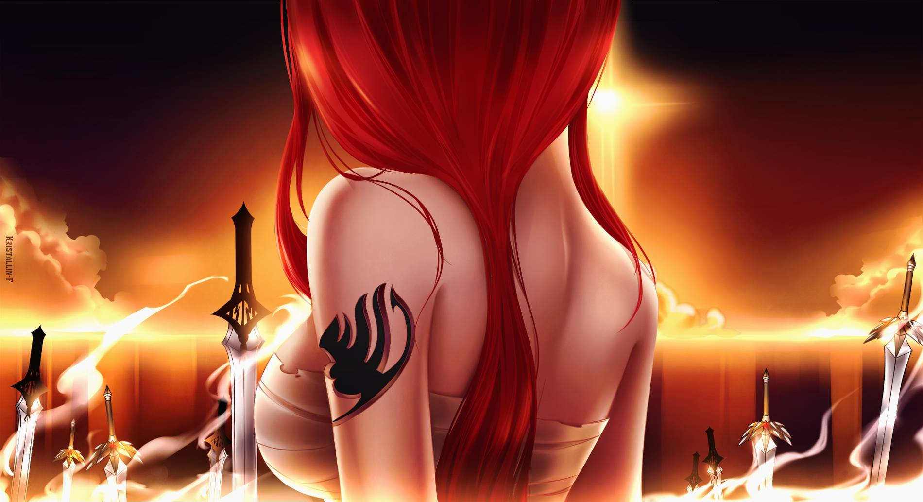 Erza scarlet   Fairy Tail Wallpaper 1900x1033