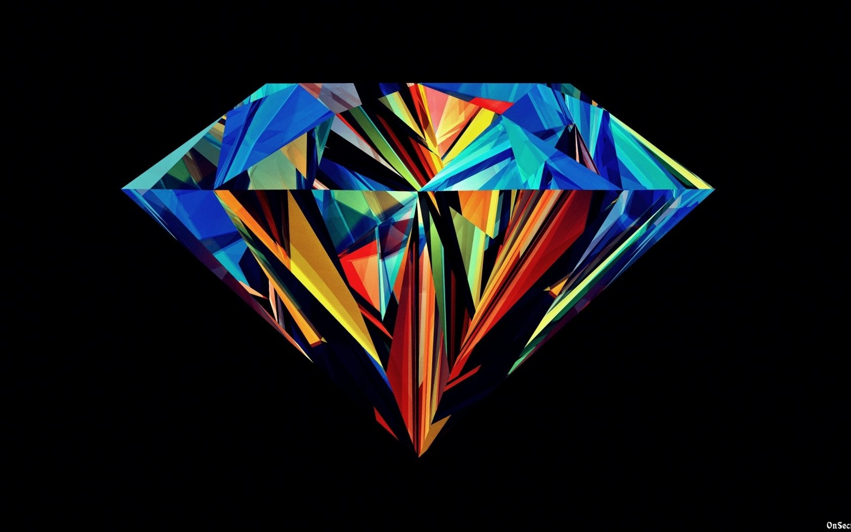 Download Colorful diamond wallpaper in 3D   Abstract wallpapers with 1680x1050
