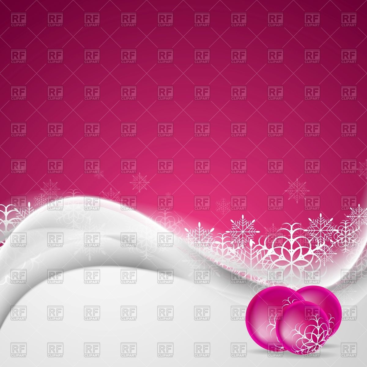 Pink Christmas background with snowdrift christmas balls and 1200x1200