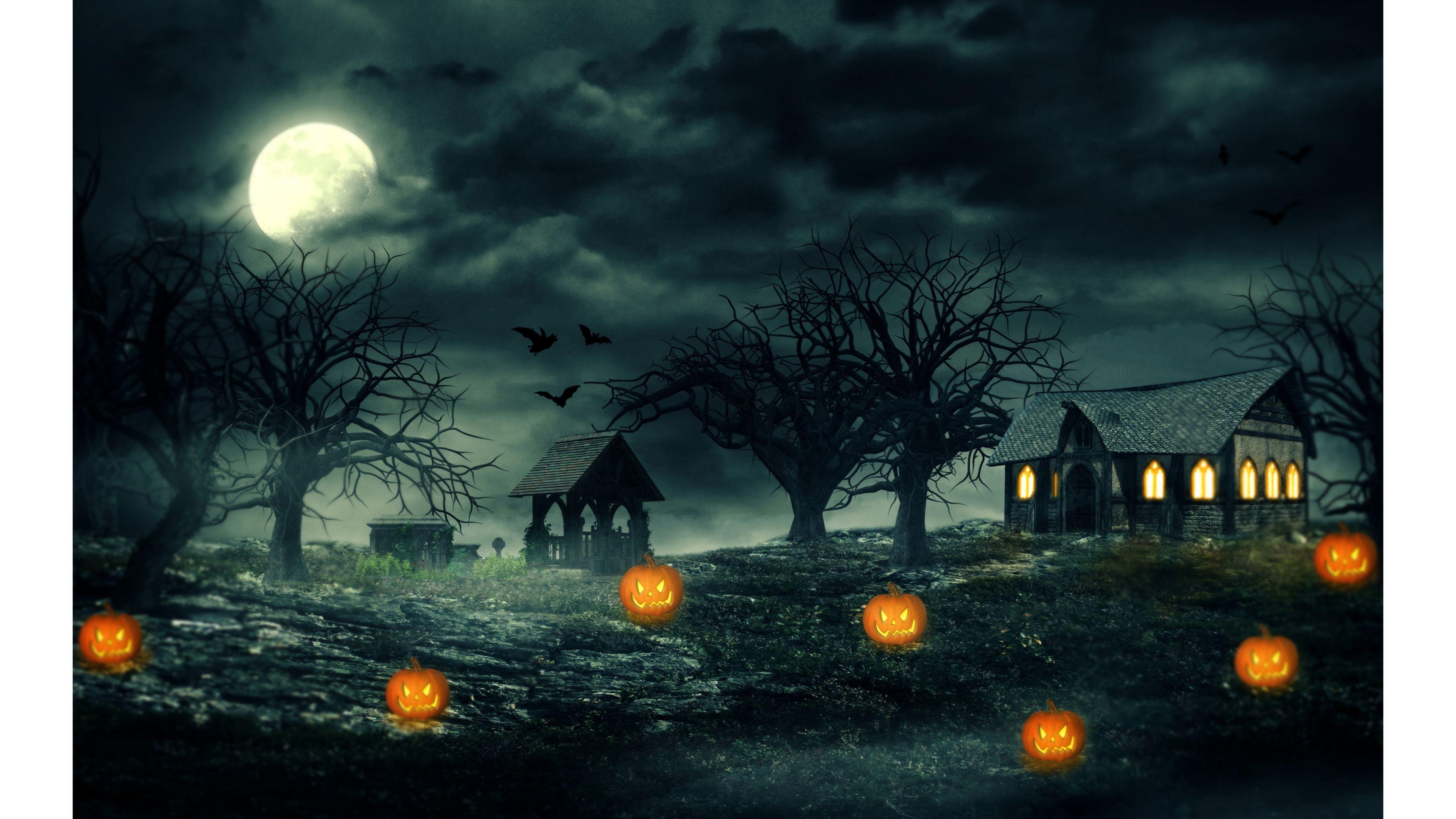 77 Halloween Wallpapers on WallpaperPlay 3840x2160
