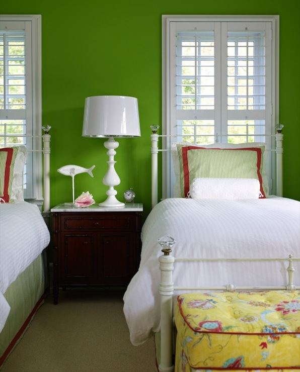 Apple Green Walls   Transitional   girls room   Bella Mancini Design 596x740