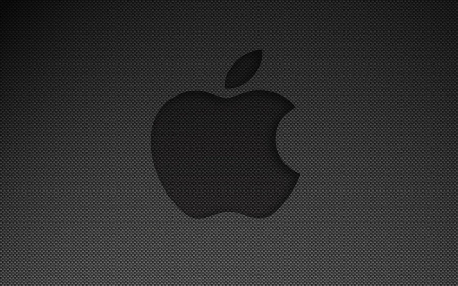 Wallpaper] Carbon Fiber Apple by xgrayscale 900x563