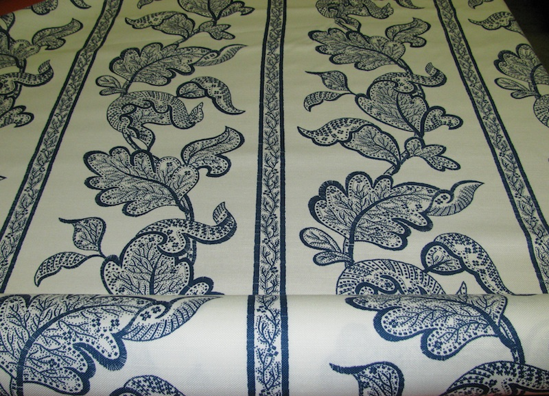 HINSON AND COMPANY BROOKE BLUE IVORY FLORAL DRAPERY [g271252841564 800x578