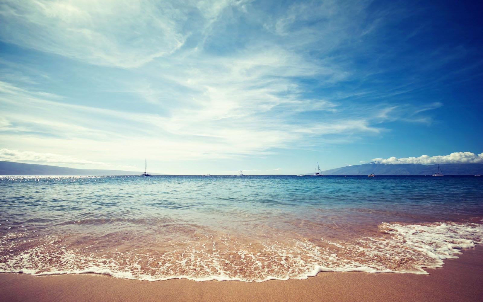 ocean beach sand sky wallpaper View All View All 1600x1000