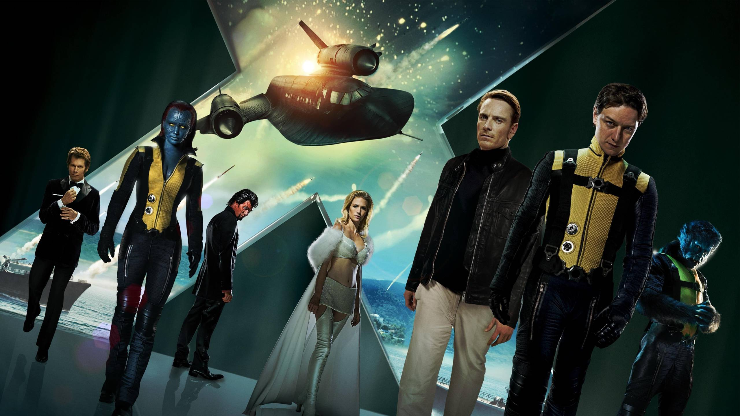 X Men Movies Mystique Beast character Magneto Charles 2560x1440