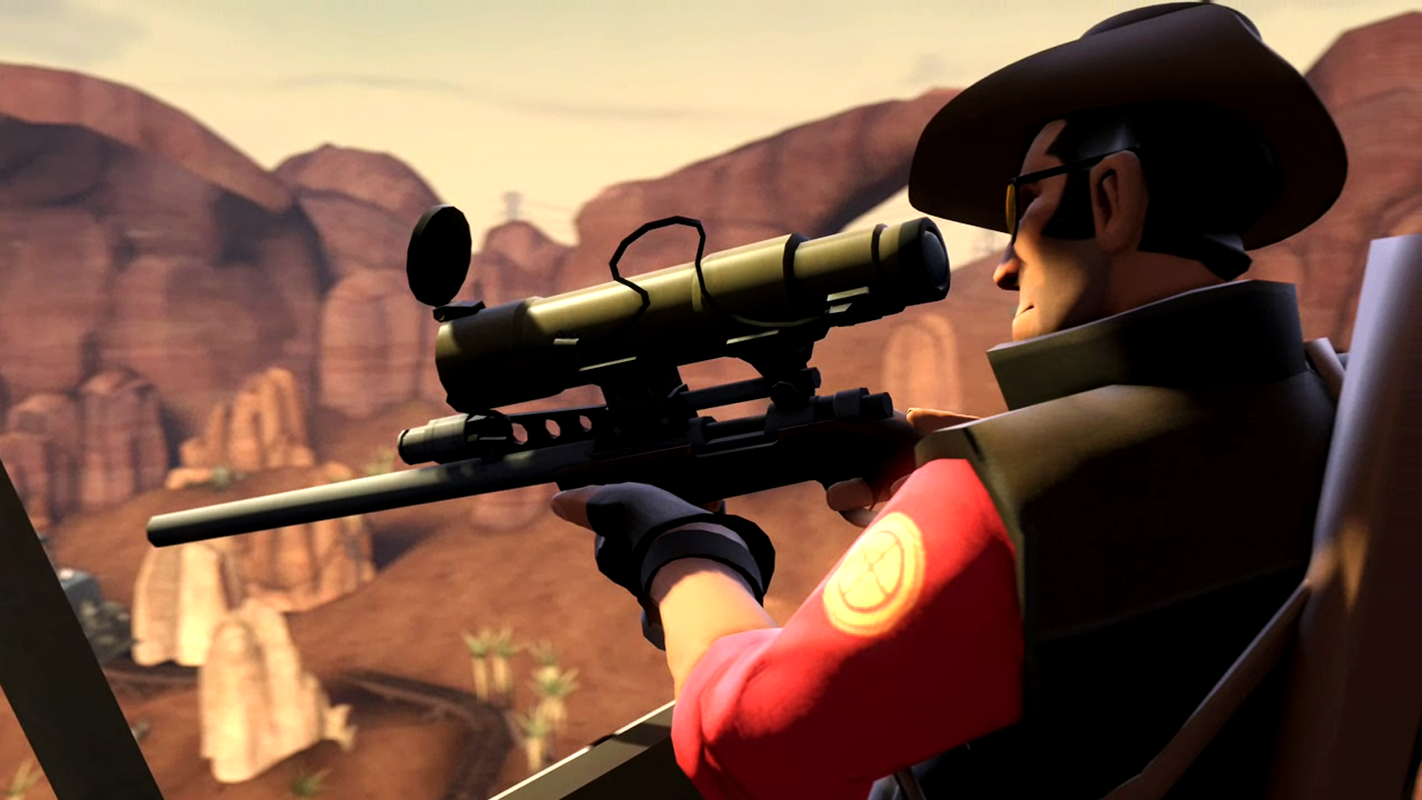 Team Fortress HD Sniper Wallpaper 1600x900