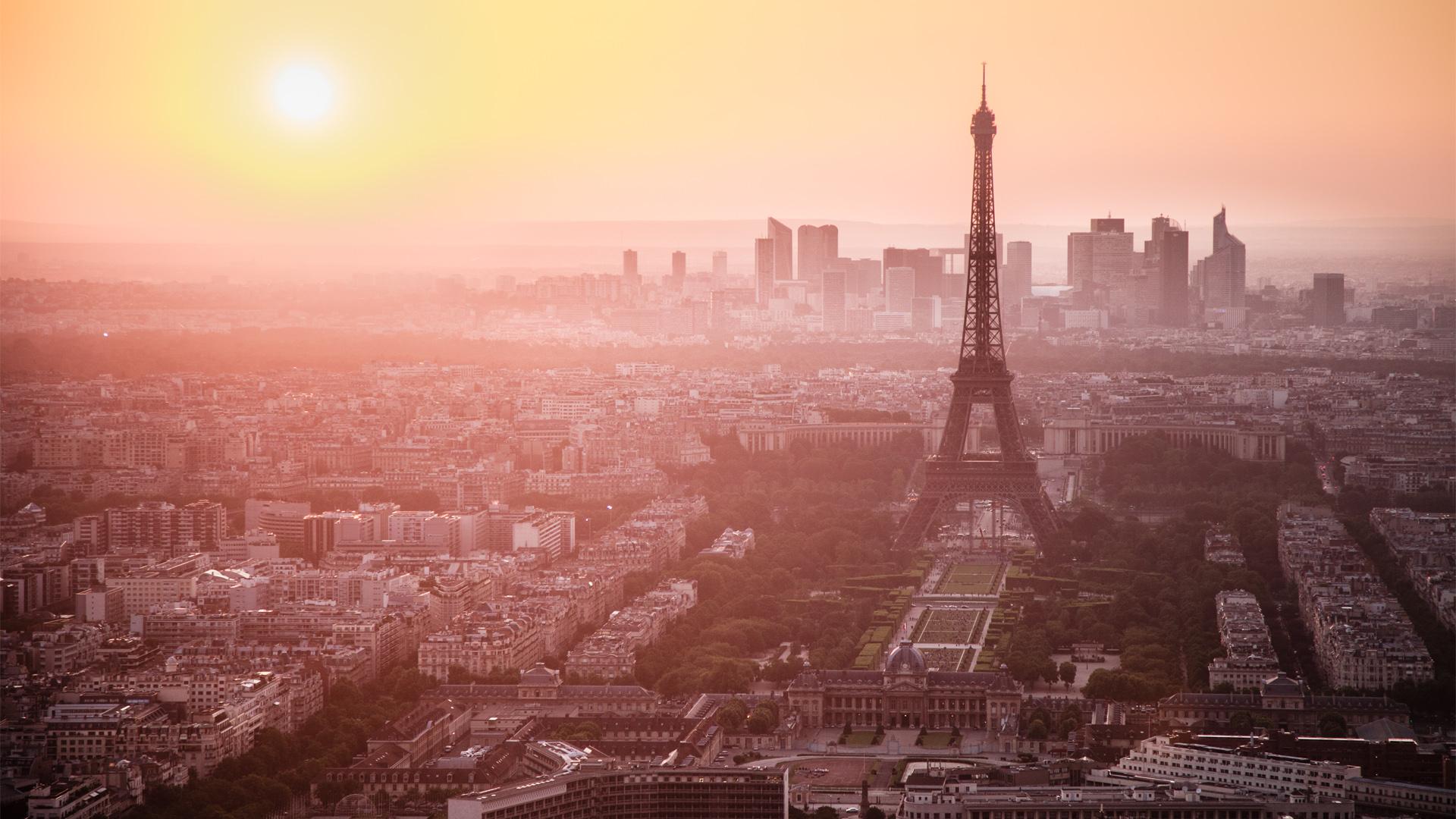 Theme Bin Blog Archive Paris Sunset Skyline HD Wallpaper 1920x1080