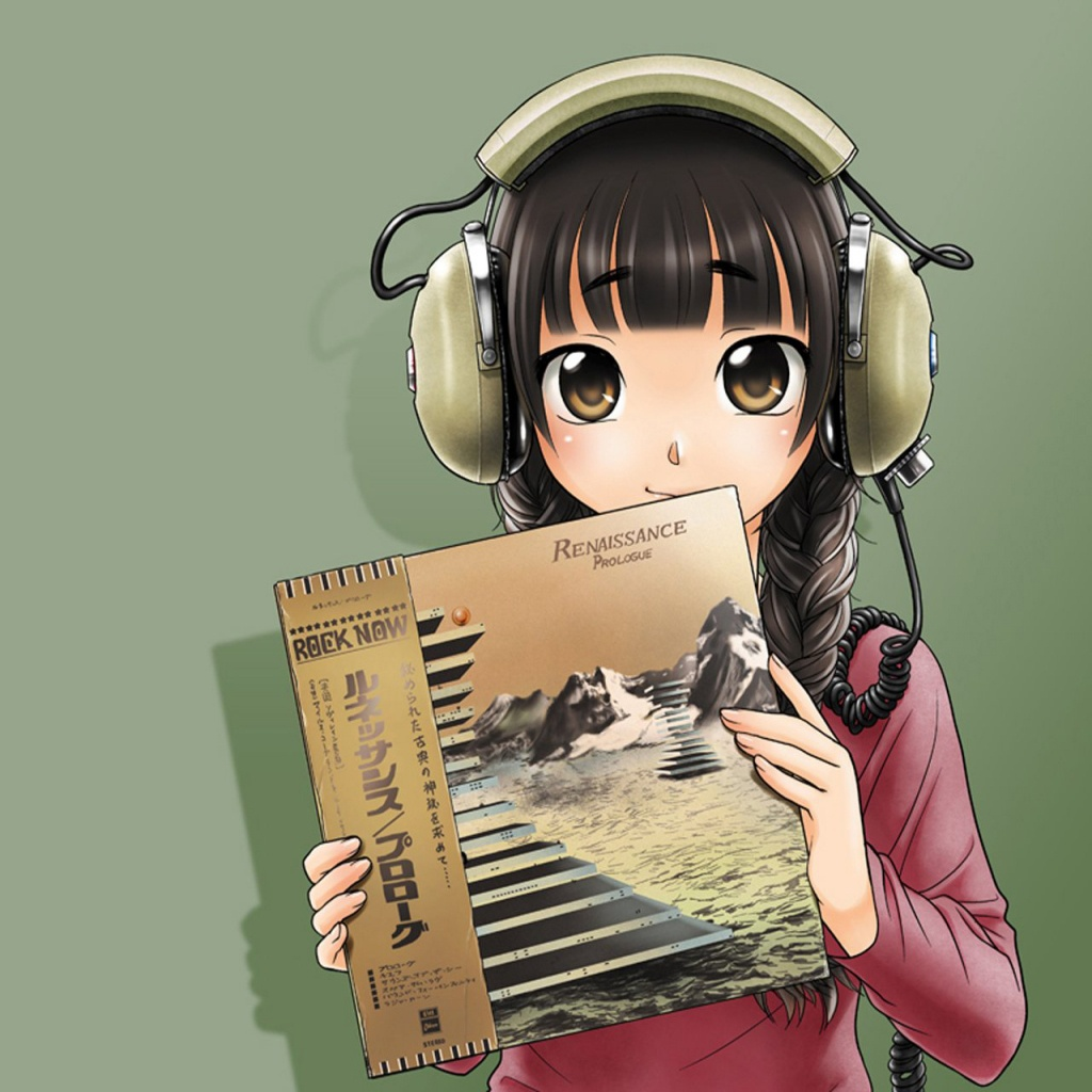 iPad Wallpapers Anime headphones   Cartoon Comics iPad iPad 2 1024x1024