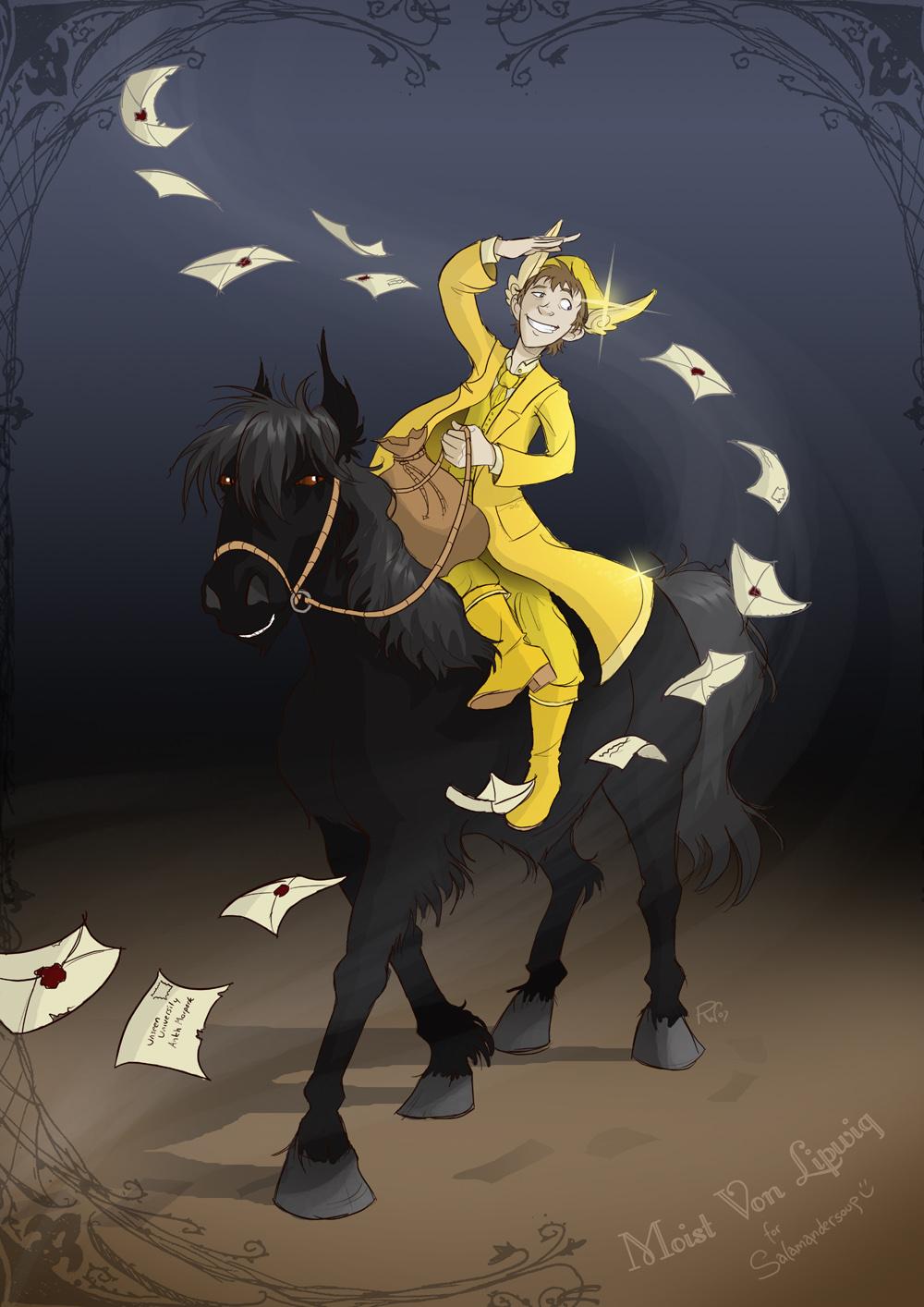 Moist Von Lipwig   Terry Pratchett Fan Art 40047062 1000x1414