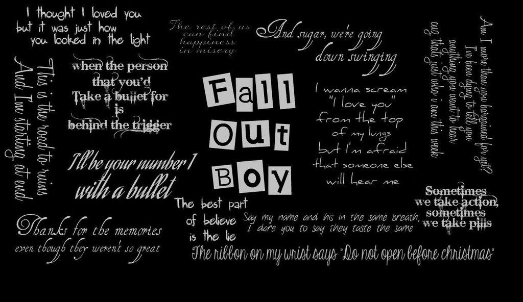 Fall Out Boy Lyrics Wallpaper Finished fall out boy by 1024x592
