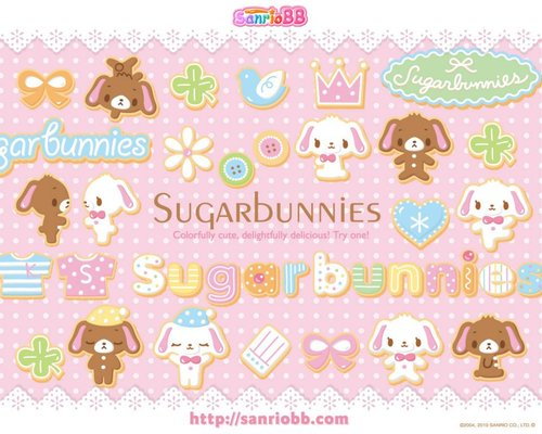 Wallpapers Sugar Bunnies vol 02   Le Coin Kawaii 500x400