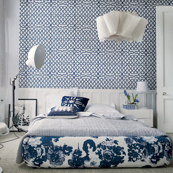 Asian Bedroom Style with Wallpaper Decor   Home Interior Design   1927 600x600
