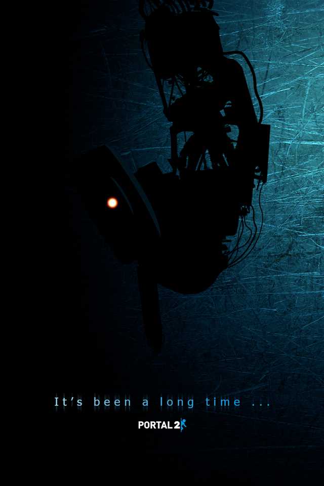 Funny Portal 2 iPhone Wallpaper 640x960